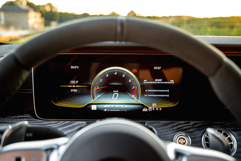 2019 Mercedes-AMG GT 63 S instrument cluster display