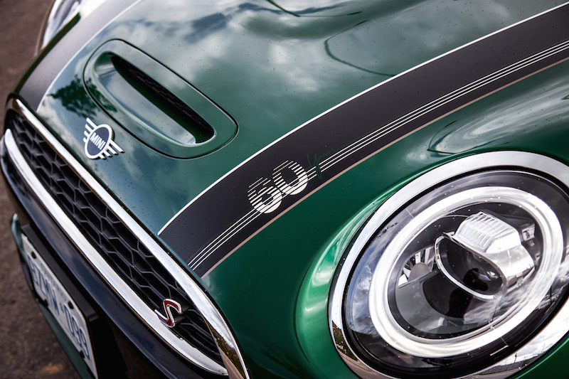 MINI Cooper S 60 Years Edition bonnet stripes