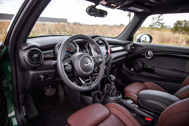 MINI Cooper S 60 Years Edition interior dark maroon