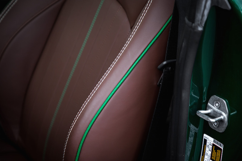 MINI Cooper S 60 Years Edition green interior piping