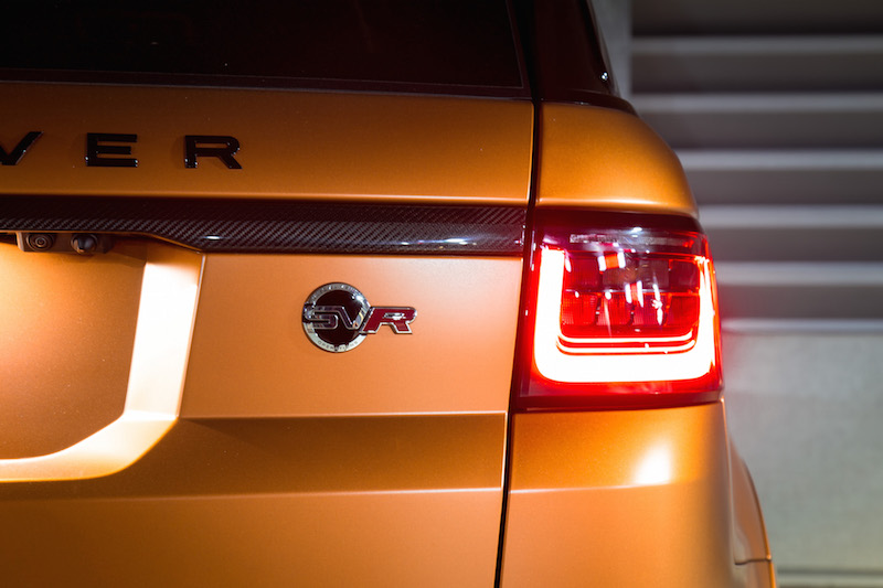 2019 Range Rover SVR badge taillights
