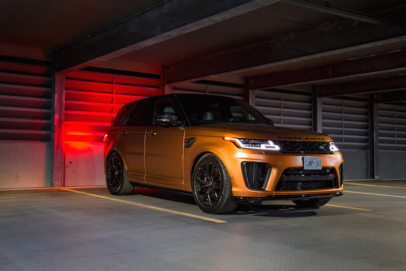 2019 Range Rover SVR madagascar orange satin matte paint