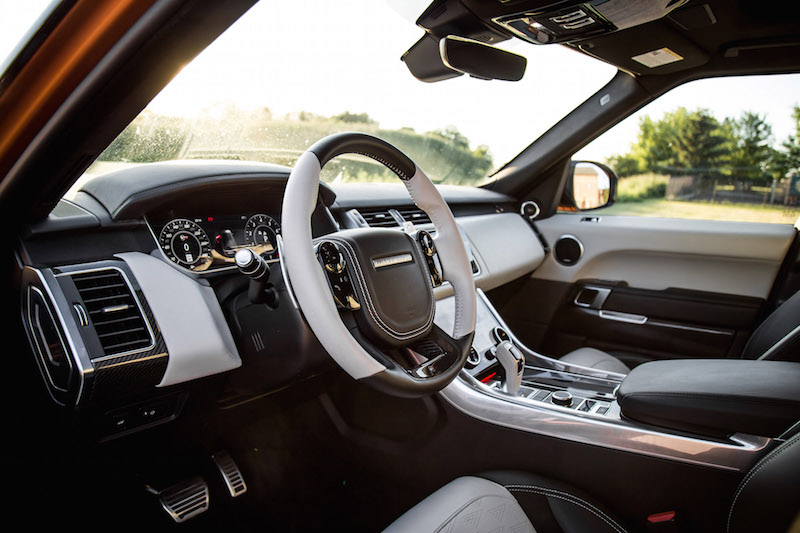 2019 Range Rover SVR white black interior