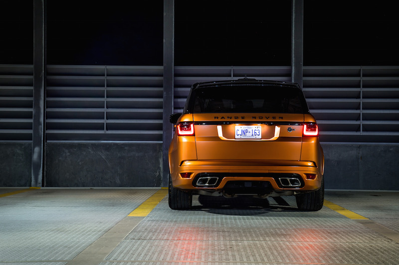2019 Range Rover SVR rear view