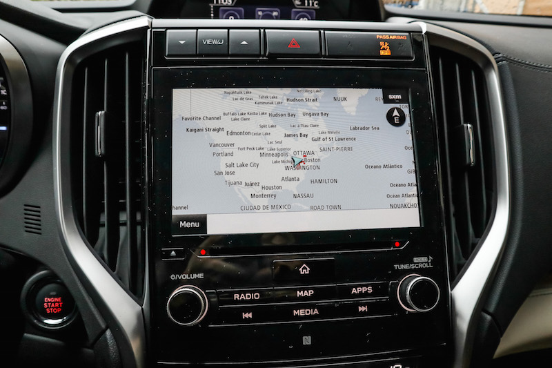 2019 Subaru Ascent gps navigation screen