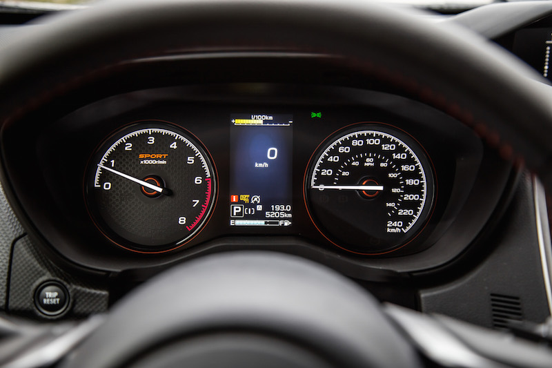 2019 Subaru Forester Sport gauges