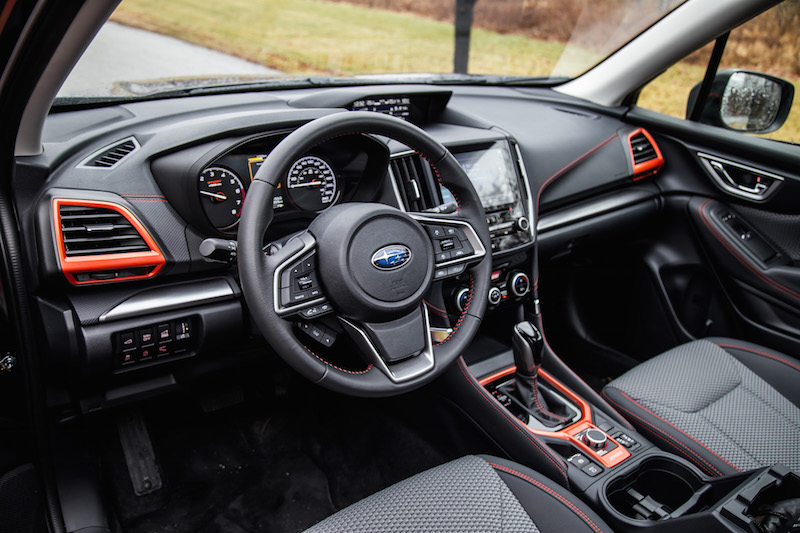 2019 Subaru Forester Sport black orange interior
