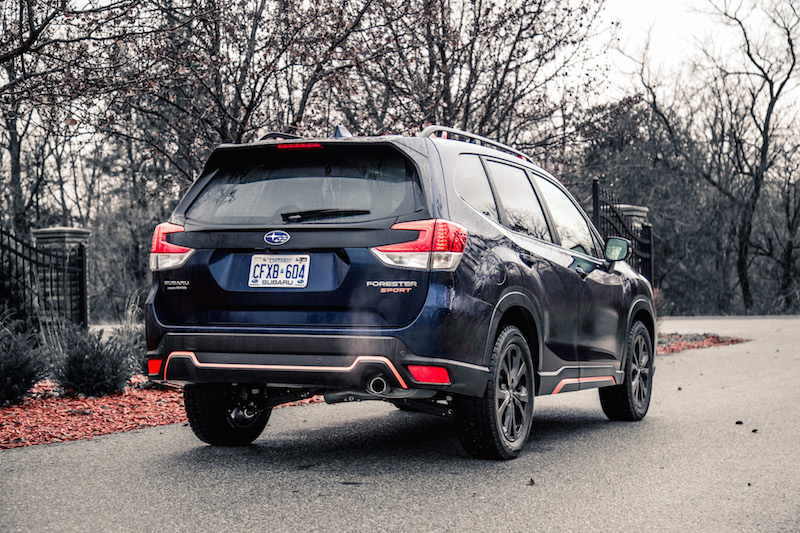 2019 Subaru Forester Sport rear quarter view add ons