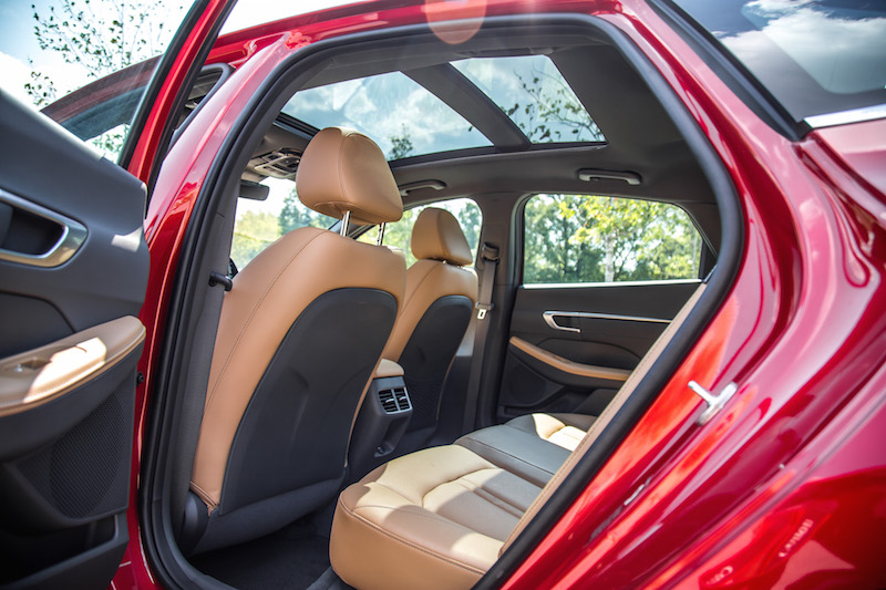 2020 Hyundai Sonata Ultimate rear seats panoramic roof