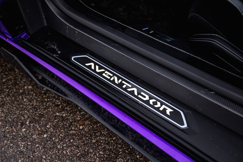 2020 Lamborghini Aventador SVJ Coupe illuminated door sill