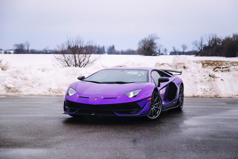 2020 Lamborghini Aventador SVJ Viola Pasifae purple paint colour