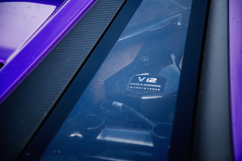 2020 Lamborghini Aventador SVJ Coupe v12 engine bay window