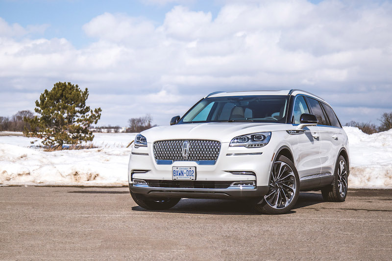 2020 Lincoln Aviator Reserve white paint