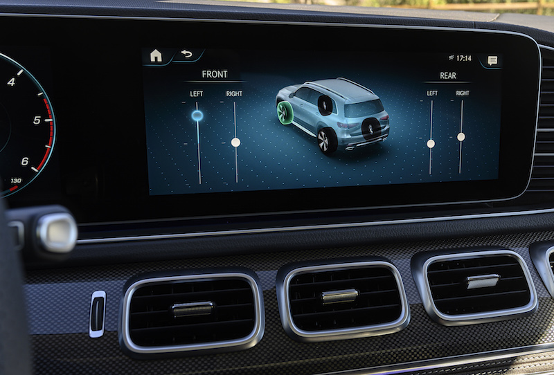 2020 Mercedes-Benz GLS e-active body control display