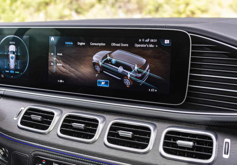 2020 Mercedes-Benz GLS off-road display mode