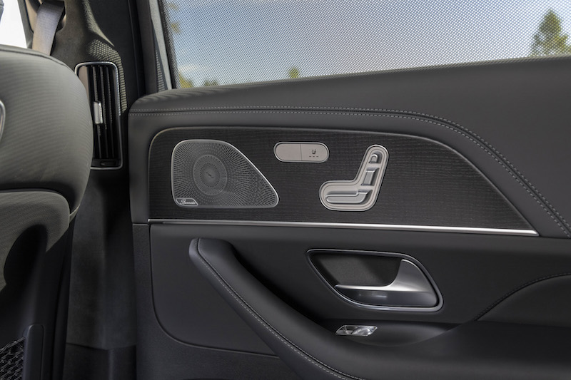 2020 Mercedes-Benz GLS second row seat door panel controls