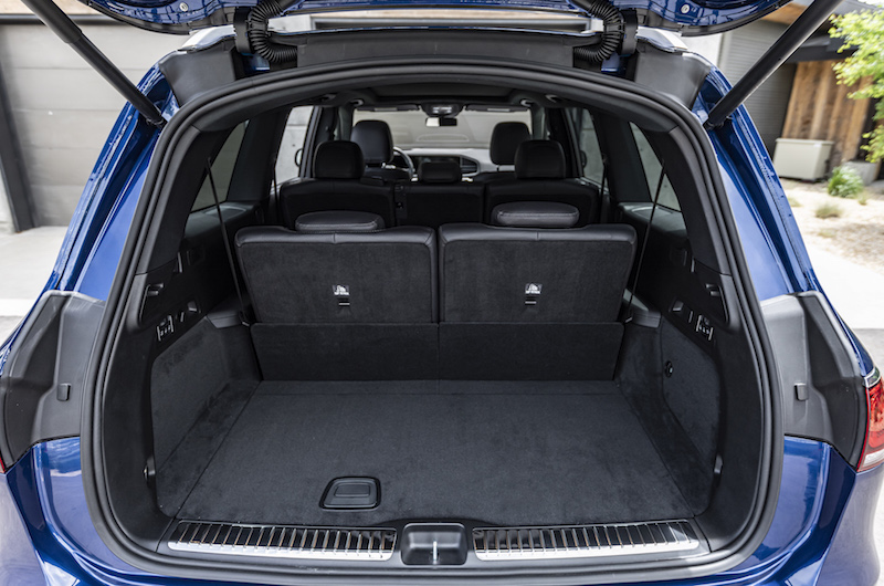 2020 Mercedes-Benz GLS trunk space with seats up
