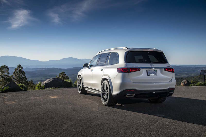 2020 Mercedes-Benz GLS 580 white rear