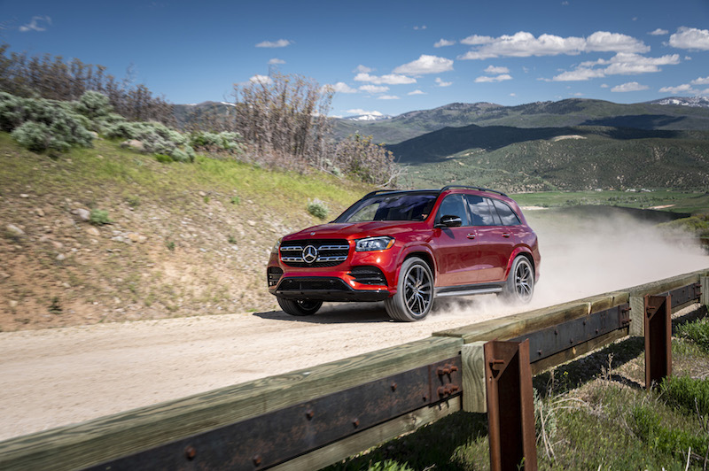 2020 Mercedes-Benz GLS 580 hyacinth red paint designo