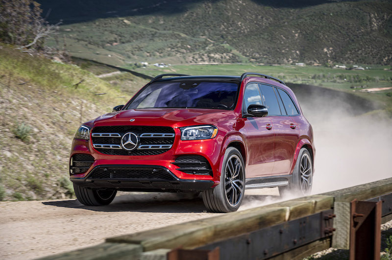 2020 Mercedes-Benz GLS 580 red driving