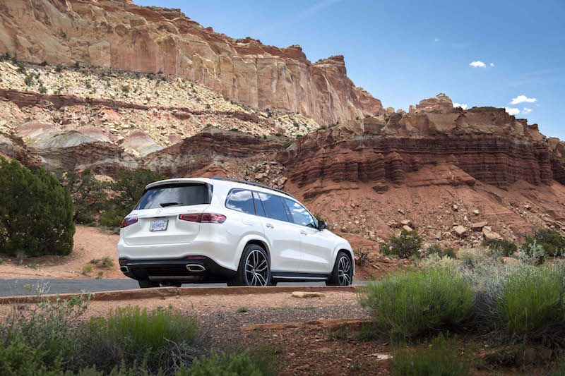 2020 Mercedes-Benz GLS 580 rear quarter utah viewing
