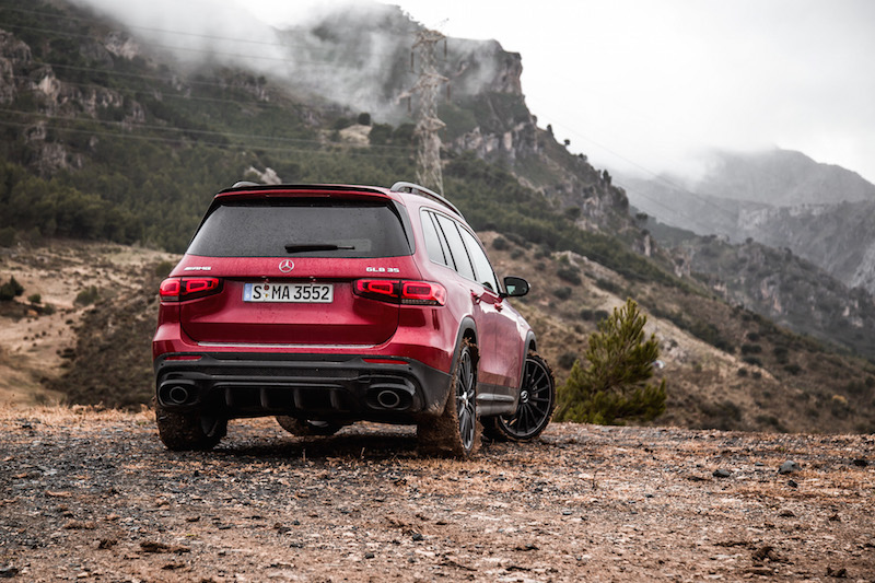 2021 Mercedes-AMG GLB 35 4MATIC red paint spain