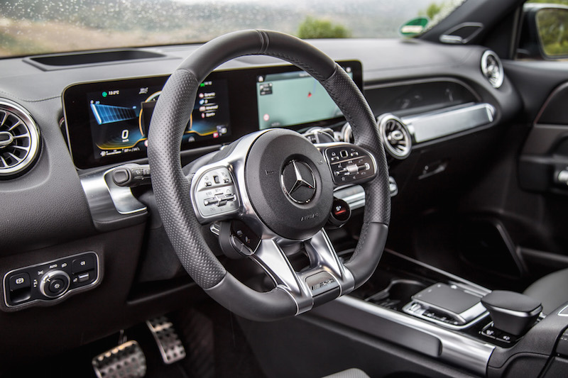 2021 Mercedes-AMG GLB 35 4MATIC steering wheel