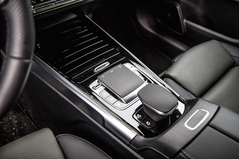 2021 Mercedes-AMG GLB 35 4MATIC center console trackpad