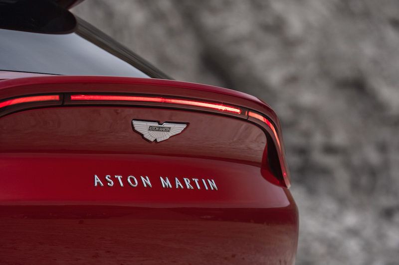 Aston Martin DBX badge and taillights