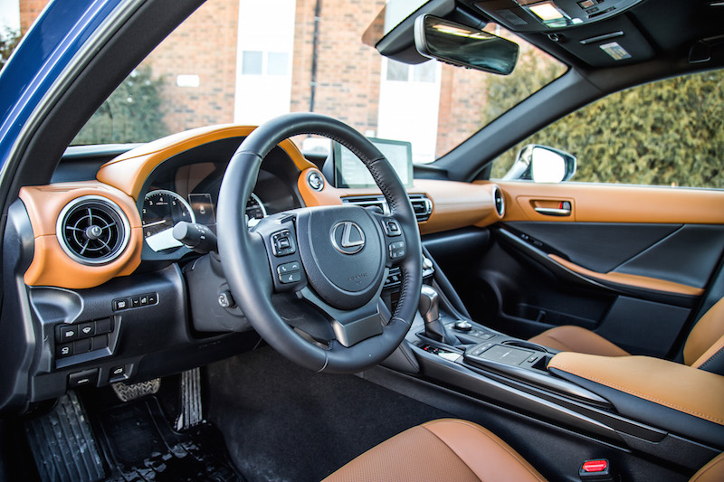 2021 Lexus IS 300 AWD Ultra Luxury brown leather interior