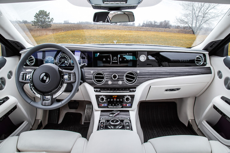 2021 Rolls-Royce Ghost Grace White interior dashboard