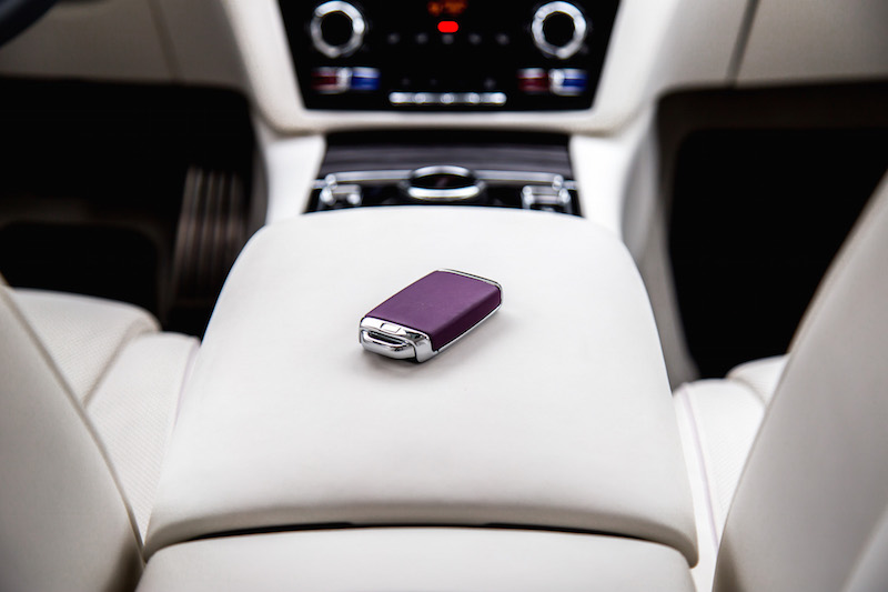 2021 Rolls-Royce Ghost purple key fob