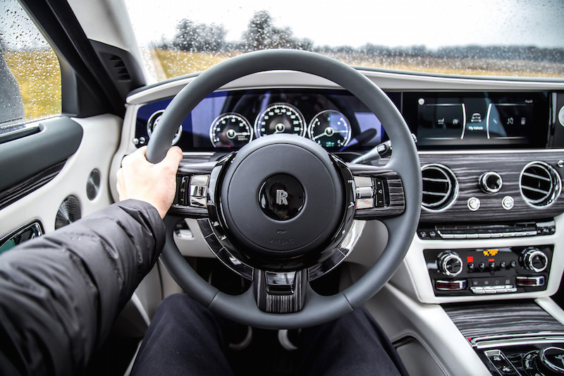 2021 Rolls-Royce Ghost pov steering wheel