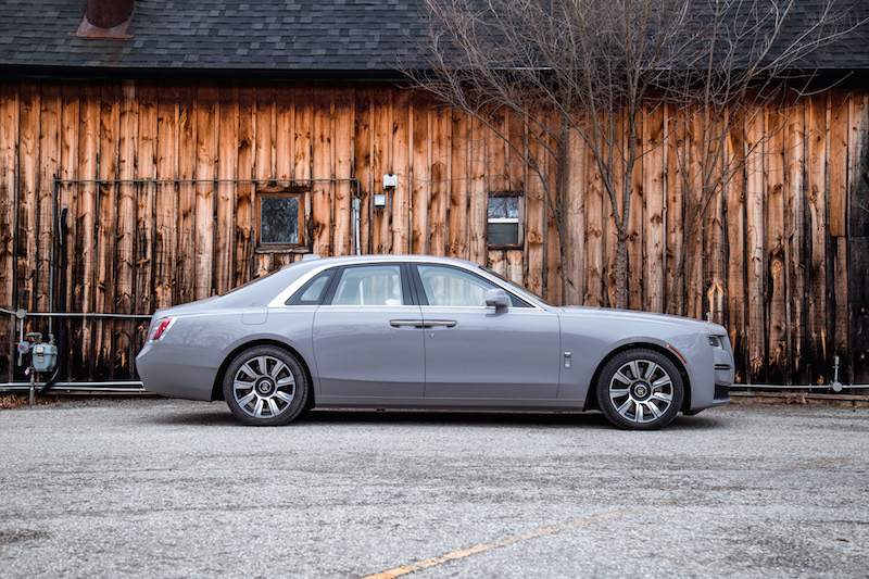 2021 Rolls-Royce Ghost Tempest Grey side view short wheelbase swb
