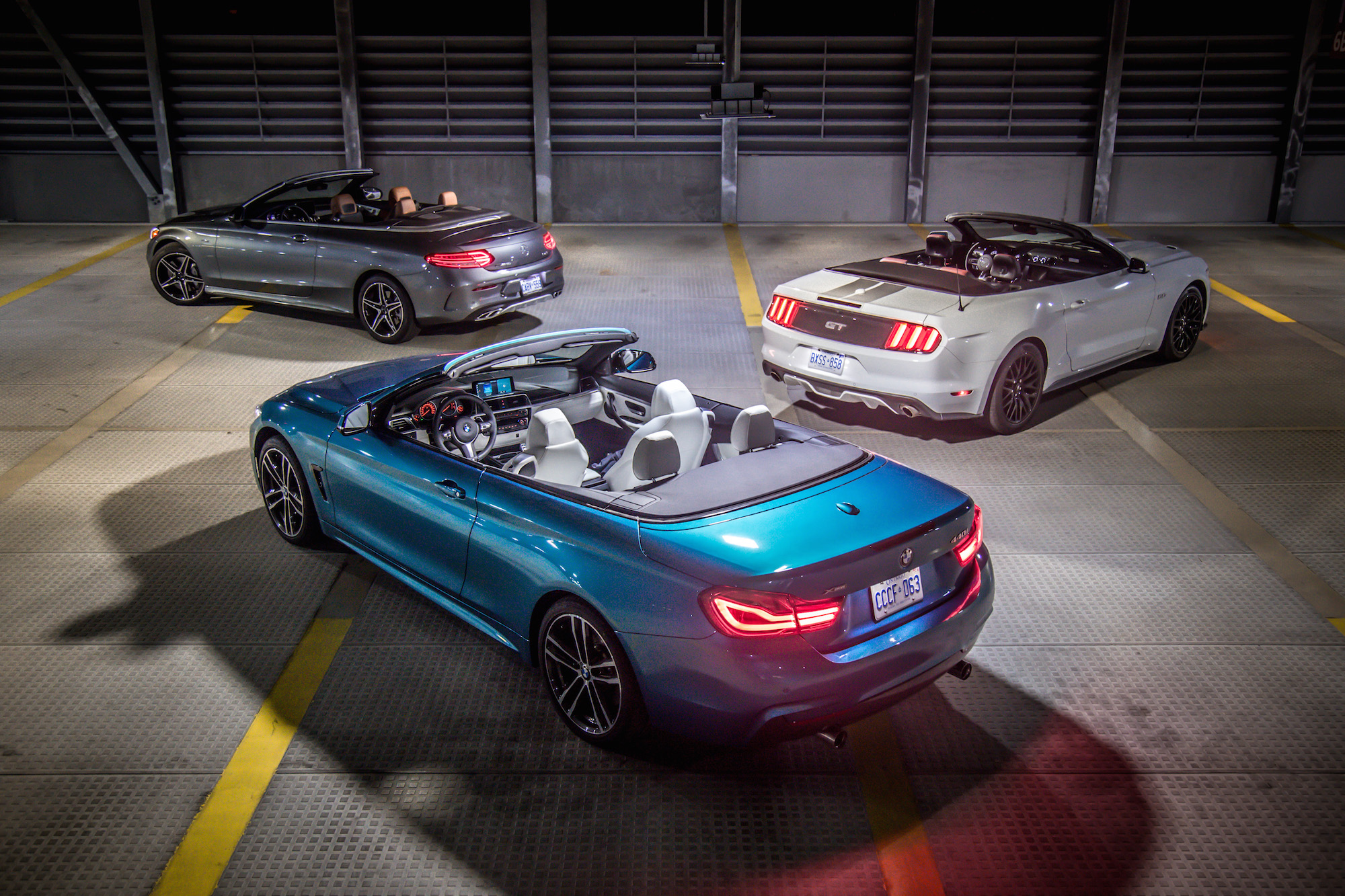 Mustang Gt Horsepower >> Convertible Comparison: BMW 440i xDrive vs. Mercedes-AMG C 43 4MATIC vs. Ford Mustang GT ...